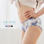 青瓷花海蠶絲內褲-錠藍青花瓷  (專利蠶絲褲底/4色)