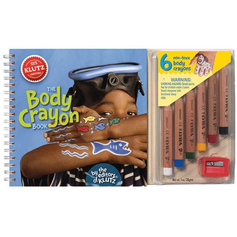 【美國Klutz】The Body Crayon Book 蠟筆人體彩繪