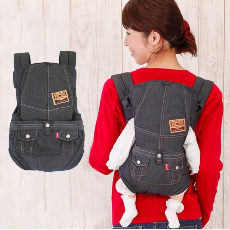 嬰兒背巾 西村媽媽 日本LUCKY  7WAY活用牛仔背帶