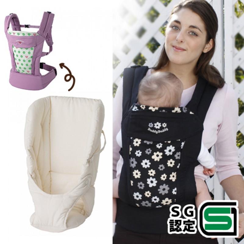 嬰兒背巾 西村媽媽 日本LUCKY  享樂頂級舒適背帶〔新生兒軟墊〕