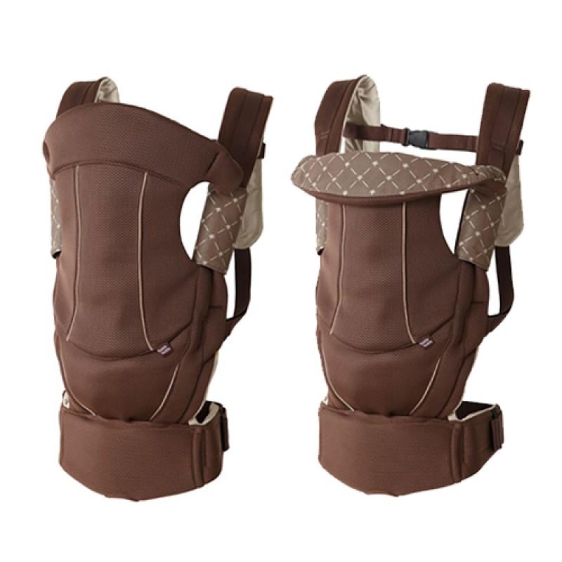 嬰兒背巾 西村媽媽 日本LUCKY  Side Plus腰帶型背帶【經典版】咖啡色展示品出清