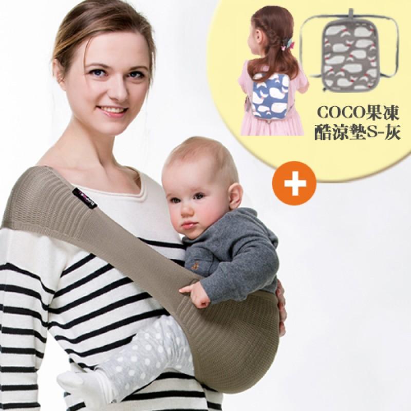 日本LUCKY  舒寶利網狀舒適背巾(7色)+COCO果凍酷涼暖墊(S)