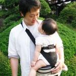 嬰兒背帶 西村媽媽 日本LUCKY 霹靂腰包親子揹巾
