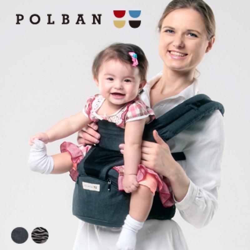 嬰兒背帶 西村媽媽 日本LUCKY POLBAN腰凳背帶〔限定款〕 + 360環繞式口水墊 組合