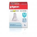 貝親 PIGEON 一般口徑母乳實感矽膠奶嘴 M /適用年齡:4~5個月起