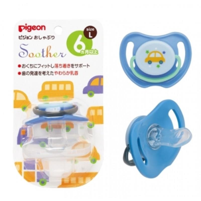 貝親 PIGEON 安撫奶嘴-汽車(L) /3尺寸 / S、M、L
