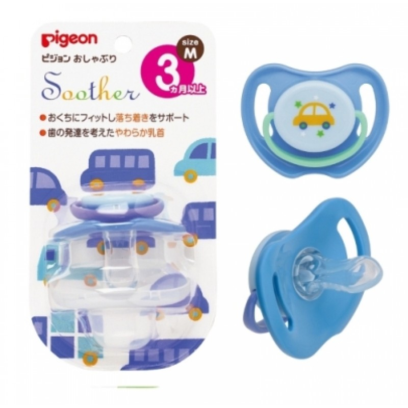 貝親 PIGEON 安撫奶嘴-汽車(M) /3尺寸 / S、M、L