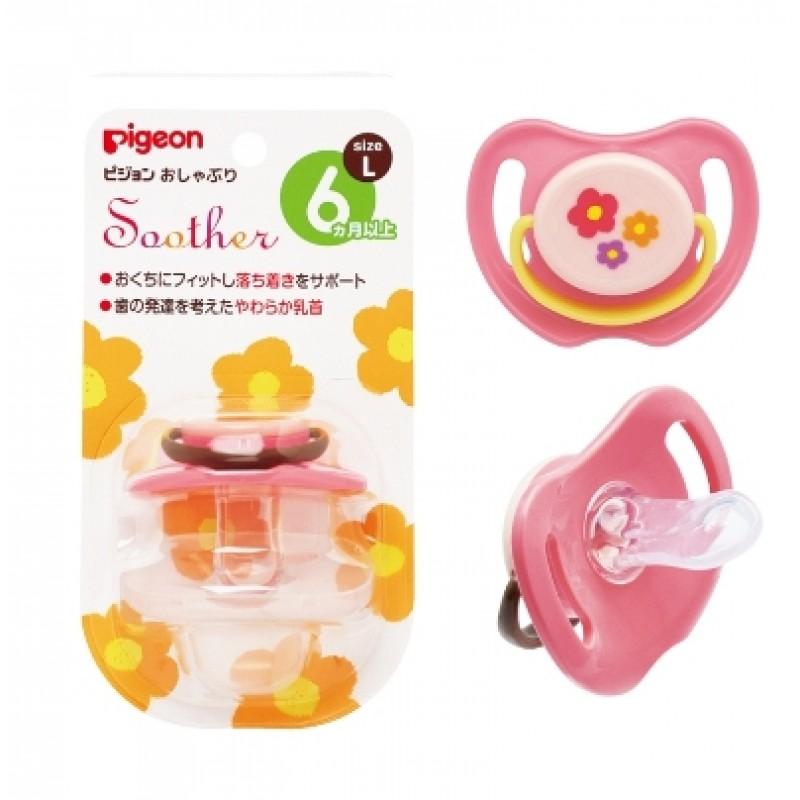 貝親 PIGEON 安撫奶嘴-小花(L) /3尺寸 / S、M、L