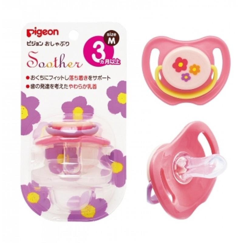貝親 PIGEON 安撫奶嘴-小花(M) /3尺寸 / S、M、L