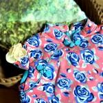 兒童旗袍 古風 冬季款〔藍玫瑰款〕