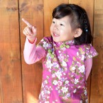 兒童古風旗袍  冬季款〔紫色百合款〕