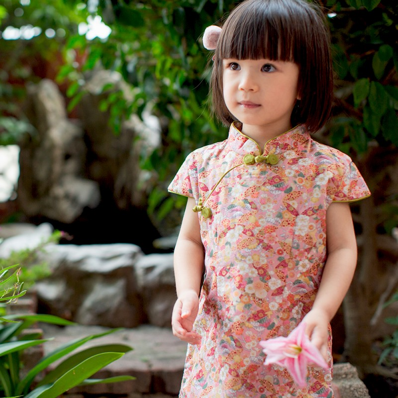 【買1送衣】兒童旗袍 古風 冬季款〔和風剪影〕