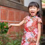 【買1送衣】兒童旗袍 古風 冬季款〔拼接和風〕