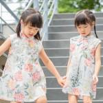 兒童改良式旗袍 古風 四季款〔牡丹花間〕