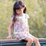 兒童旗袍 古風 四季款〔紫羚翔和〕