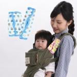【日本研發】日本LUCKY 手裏劍交叉口水墊 (吉祥兔)各種寬細背帶都適用/日本製